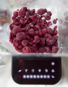 Blendtec with raspberries