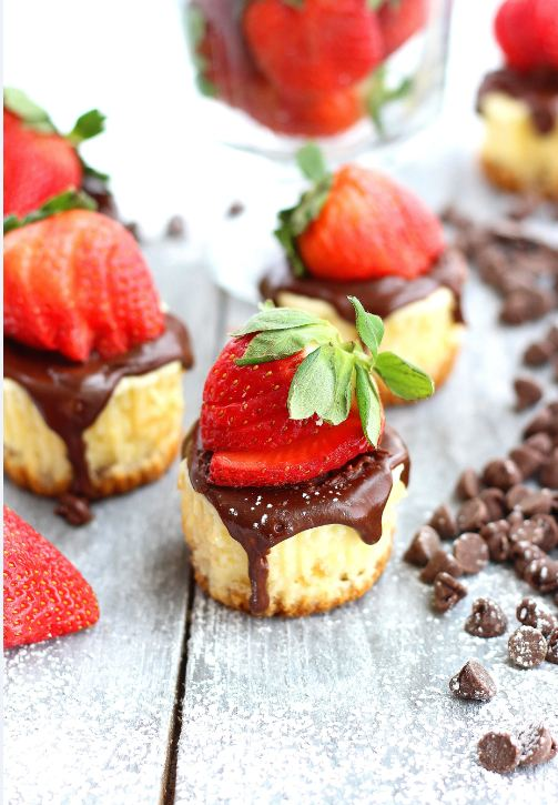 Mini Cheesecakes with Chocolate Ganache_2